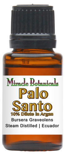 Palo Santo Essential Oil Dilute - 10% in Argan