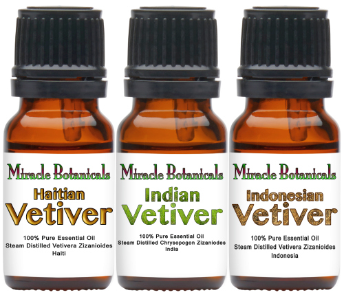 Vetiver Essential Oil Trio Set