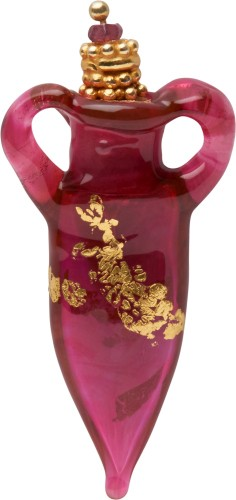 Essential Oil Vessels - Red/Gold